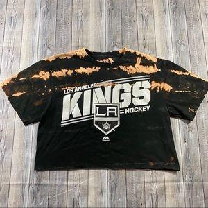 Bleached LA Kings Hockey Crop Top